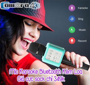 mic hat karaoke tren kem loa ket noi bluetooth