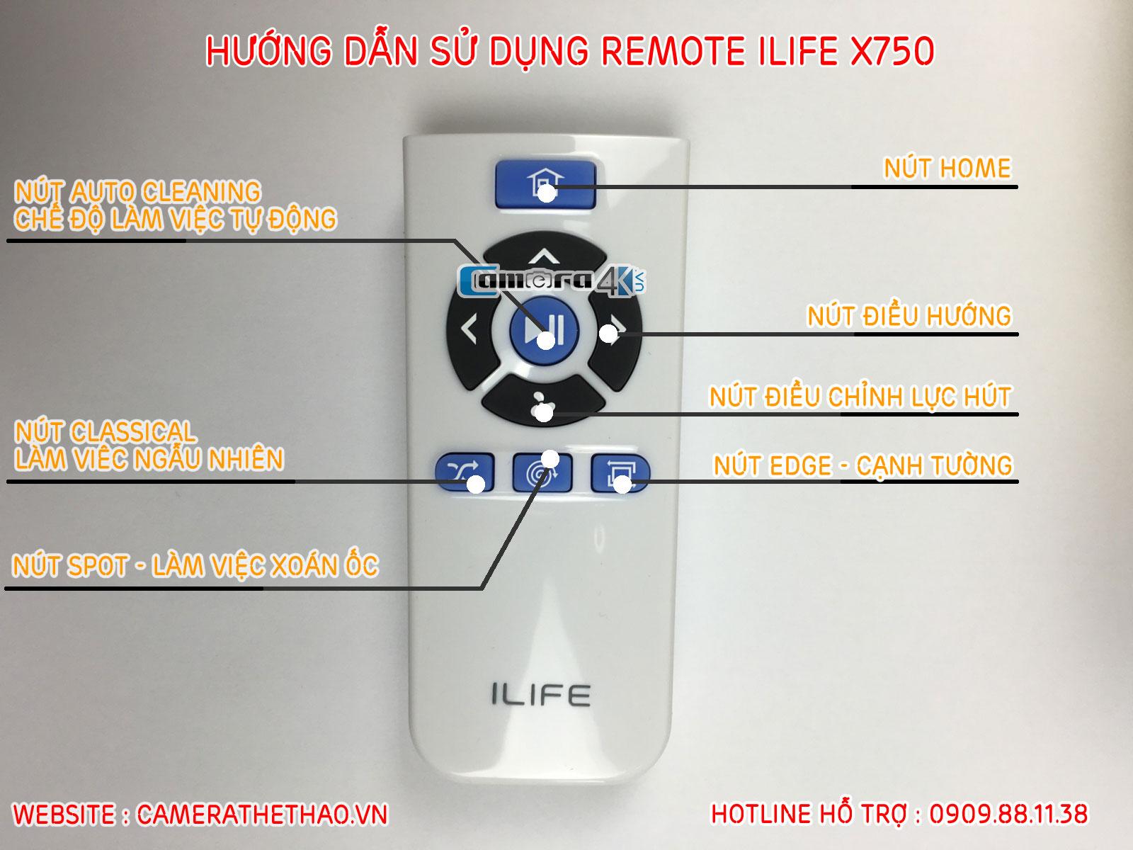 Hướng Dẫn Sử Dụng REMOTE Robot Hút Bụi ILIFE X750