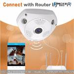 Camera Không Dây IP VR Panoramic 360