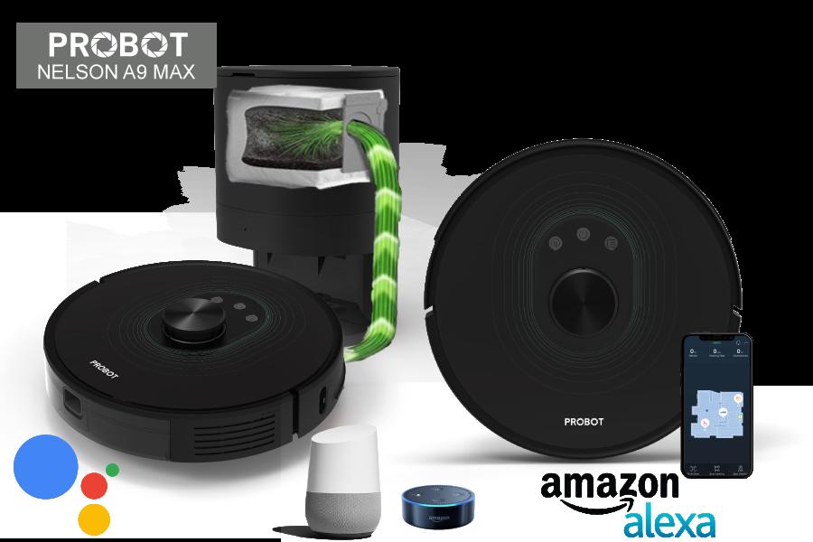 Probot Nelson A9 Công Suất 2700PA - Hạng Mức Cao Cấp Nhất Của Robot Hút Bụi Lau Nhà Tự Động