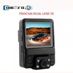 Camera Hành Trình Oto Chính Hãng Procam T8 Dual Lens, Hỗ Trợ GPS, Tốc Độ