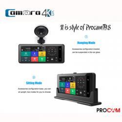 Camera Hành Trình Oto Chính Hãng Procam T98 4G Style, Hỗ Trợ GPS, Tốc Độ, ADAS, Xem online