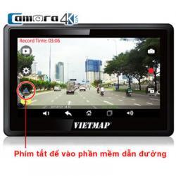 Camera Hành Trình Vietmap W810 Vừa Dẫn Đường Vừa Ghi Hình Full HD 1080P, Màn Hình 5 Inch Cảm Ứng, GPS, Cảnh Báo Tốc Độ, Hỗ Trợ Cổng AV