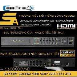 Đầu Ghi 4 Kênh Smart NVR 5A DSZ8 Poe ( IP Camera Poe)