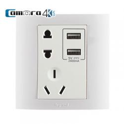 Ổ Cắm Điện Âm Tường Tích Hợp 2 USB Legrand K5 Chính Hãng Gía Rẻ