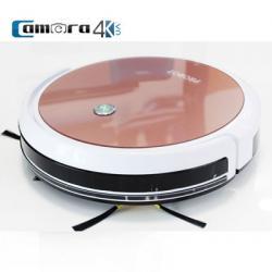 Probot Nelson A3S Wifi, Robot Hút Bụi Lau Nhà Điều Khiển Qua Điện Thoại Màu Hồng