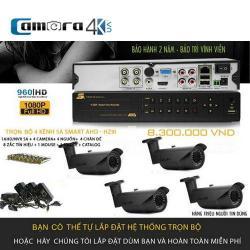 Trọn Bộ 4 Kênh 5A Smart AHD-HZ9I