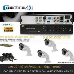 Trọn Bộ 4 Kênh 5A Smart AHD-HDZ6