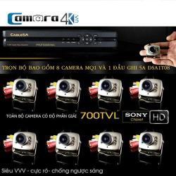 Trọn Bộ 8 Kênh Camera Siêu Nhỏ 5A MQ1