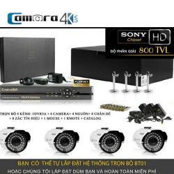 Trọn Bộ Smart DVR 5A 4 Kênh Full HD BT01