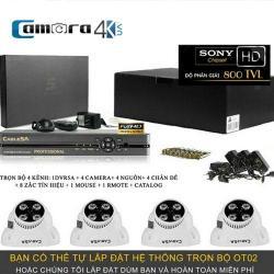 Trọn Bộ Smart DVR 5A 4 Kênh Full HD OT02