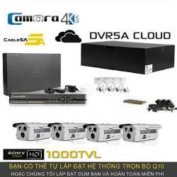Trọn Bộ Smart DVR 5A 4 Kênh Full HD Q10