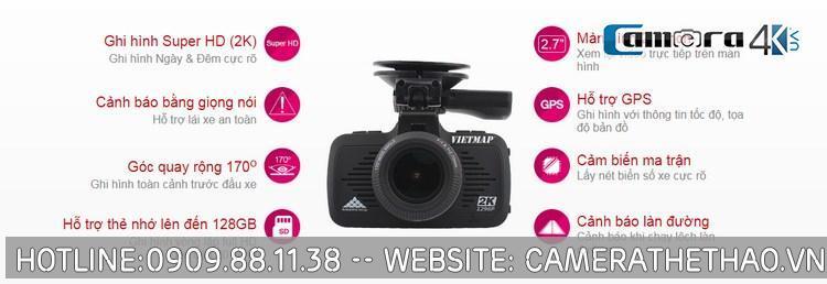 Camera Hành Trình Oto - Xe Hơi VietMap K9 Pro Quan Sát Ngày Và Đêm