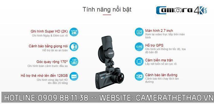 Camera hành trình oto - xe hơi vietmap k9s quan sát ngày và đêm