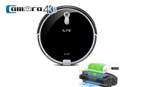 ILIFE A8 Robot Hút Bụi Cao Cấp, Định vị Bằng Camera Panoview 360 4D, Đồ Họa CV-SLAM & Hộp Lau Nhà