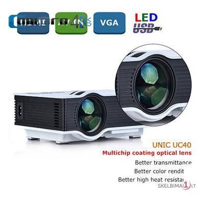 Máy chiếu mini UNIC UC40 Plus, chuẩn HD, 800 lumens
