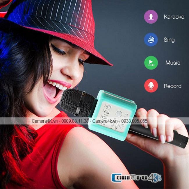 Mic Karaoke Kèm Loa Di Động Kết Nối Bluetooth Chính Hãng Micgeek Q9S