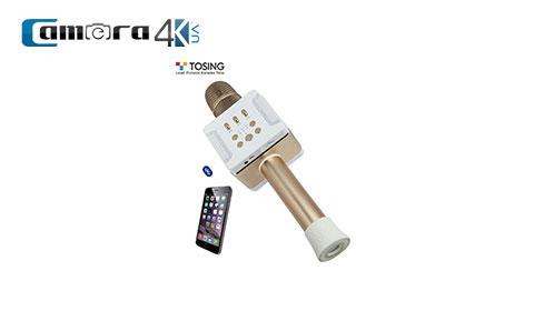 Micro Karaoke Kèm Loa Bluetooth Tosing 016 Mẫu Mới 2019, FM Hát Trên Cả Xe Hơi