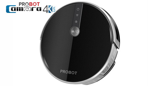 Robot Hút Bụi Lau Nhà Probot Nelson A6S 2019, Điều Khiển Qua Điện Thoại, Alexa, Google
