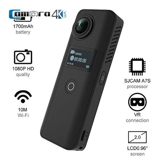 SJCAM SJ360 + Ambarella A7S OV4689 360 Độ Camera hành động toàn cảnh 0.96 inch