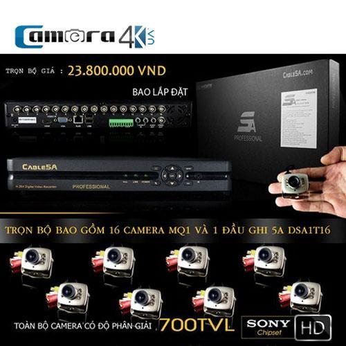 Trọn Bộ Smart DVR 5A 16 Kênh Full HD MQ1