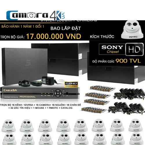 Trọn Bộ Smart DVR 5A 16 Kênh Full HD OT03