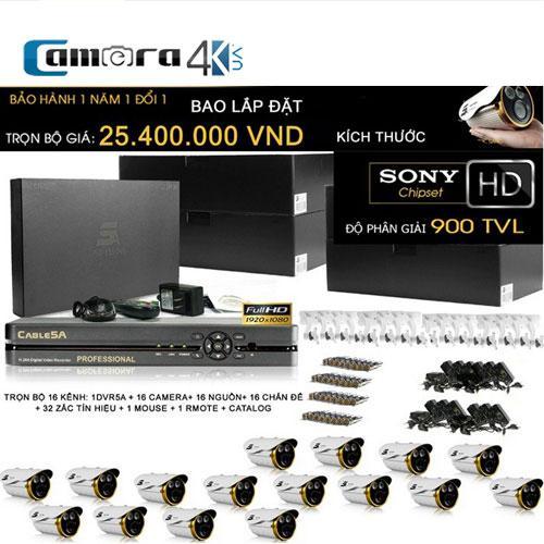 Trọn Bộ Smart DVR 5A 16 Kênh Full HD Q8I