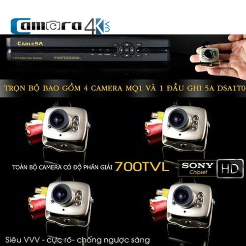 Trọn Bộ Smart DVR 5A 4 Kênh Full HD MQ1