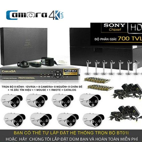 Trọn Bộ Smart DVR 5A 8 Kênh Full HD BT01I