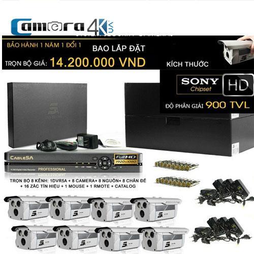 Trọn Bộ Smart DVR 5A 8 Kênh Full HD Q10